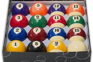 BCE Enskild Biljardboll 57 mm Boll nr 15