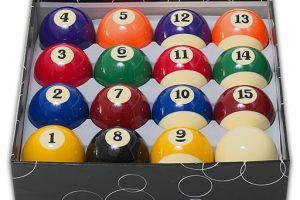 Spelbord Enskild Biljardboll 51 mm Boll nr 15
